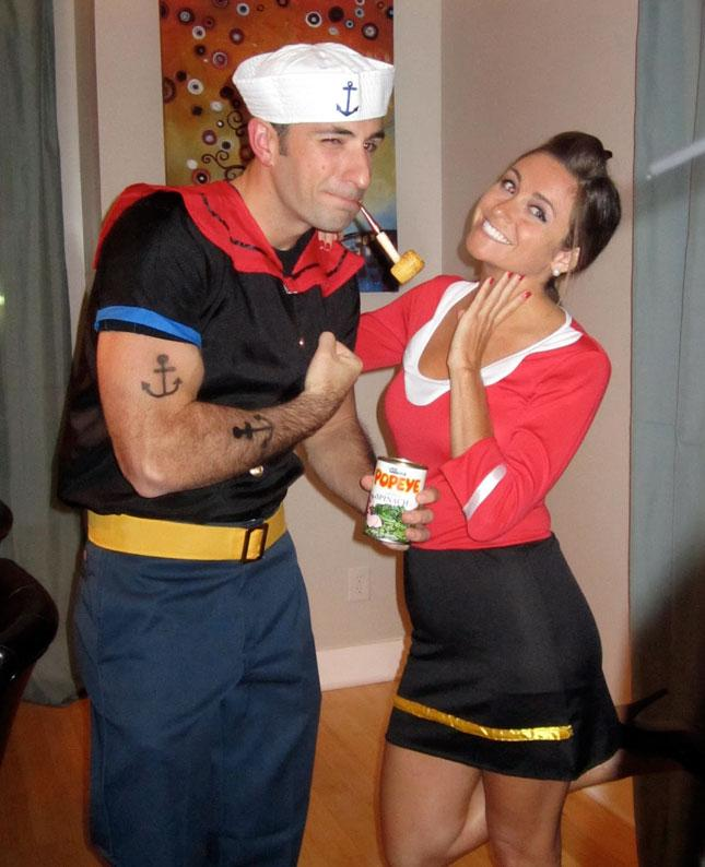 if you and your pair love classic cartoons let the world know by dressing up as popeye and olive oil this costume isnt too difficult to put together
