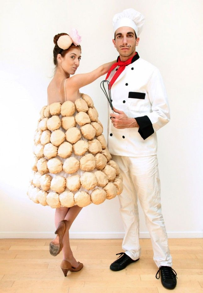 whats sweeter than being a cake and baker this costume is great if one of you is actually a baker but its also perfect if you both just love cake - Cute And Clever Halloween Costumes